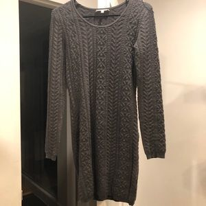Like new gray cotton and spandex sweater dress